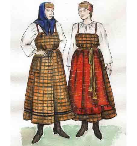 Юбка русского народного костюма